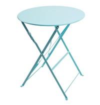 Bolero Ronde stalen opklapbare tafel turquoise 59,5cm | 71(h) x 59,5(Ø)cm