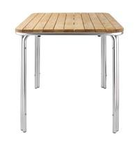 Bolero Vierkante essen en aluminium tafel 70cm | 700x700x720(h)mm