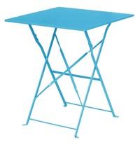Bolero Vierkante opklapbare stalen tafel turquoise 60cm | 600x600x710(h)mm