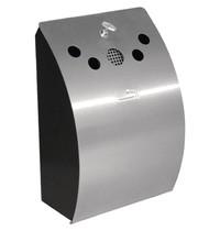 Wandmodel asbak RVS afsluitbaar  | 245x142x352(h)mm