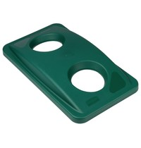 RUBBERMAID Slim Jim deksel groen voor blikken en flessen   518x287x70(h)mm
