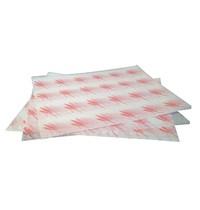 Gastronoble Vetvrij hamburger papier rood | 1000 stuks | 24,5(b) x 30(l)cm