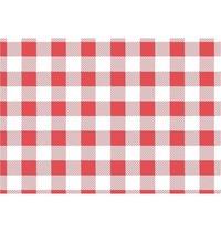Gastronoble Vetvrij rood gingham papier 19x31cm | 200 stuks