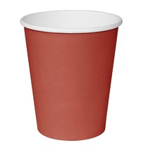 Fiesta Hot Cups met enkelvoudige wand rood 23cl | 50 stuks