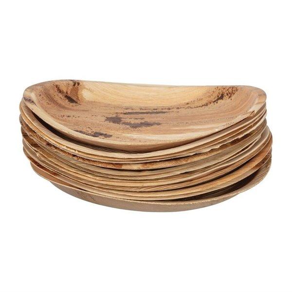Biologische afbreekbare ronde palm borden 25cm | 100 stuks