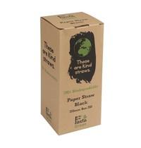 Fiesta Green Composteerbare papieren rietjes zwart | 250 stuks | 21(l) x 0,6(Ø)cm