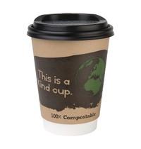 Fiesta Green Composteerbare deksels voor 34cl koffiebekers   50 stuks   9,3(Ø)cm