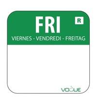 Vogue Voedseletiketten vrijdag groen | 1000 stuks | 2,4x2,4cm