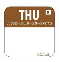 Vogue Voedseletiketten donderdag kleurcode bruin | 1000 stuks | 2,4x2,4cm