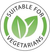 Vogue Voedseletiketten 'Vegetarisch'| 1000 stuks