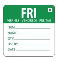 Vogue Voedseletiketten kleurcode vrijdag | 500 stuks | 4,9(h)x6(b)cm