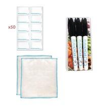 PuraCycle Herbruikbare dag stickers set | 50 stickers, 3 markers, 2 poetsdoeken