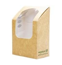 Vegware Composteerbaar tortilla dozen met PLA venster   500 stuks   70x78x130(h)mm