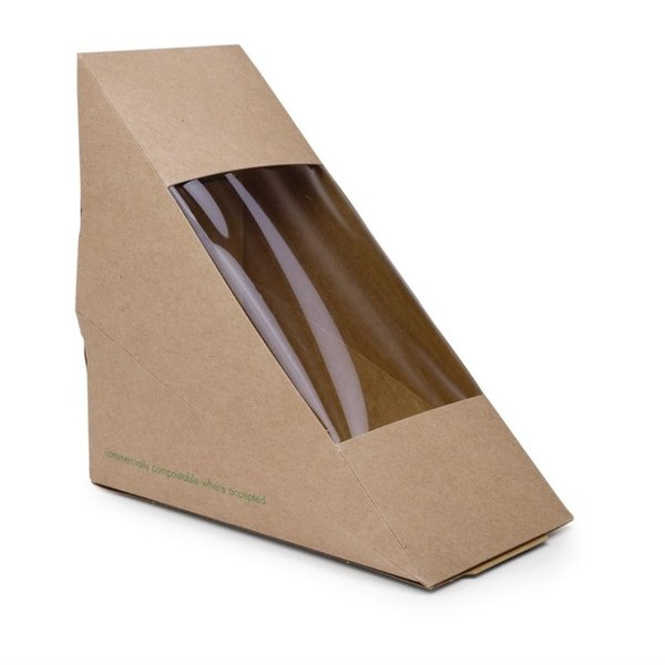 Composteerbare kraft sandwich boxen   500 stuks   72x123x123(h)mm