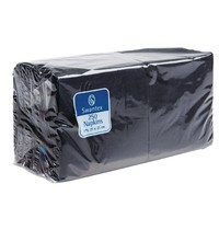 Gastronoble Zwarte servetten voor F980 2 laags | 2000 stuks | 25x25cm
