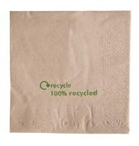 Gastronoble Gerecyclede servetten van kraftpapier | 2000 stuks | 2 laags | 33x33cm