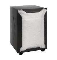 Olympia RVS servetten dispenser zwart | 90X107X120(h)mm