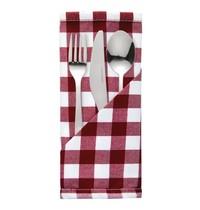 Mitre Comfort Gingham servet rood-wit | 10 stuks | 100% polyester | 41x41cm