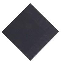 Duni Lunch servetten composteerbaar zwart | 1000 stuks | 3 laags | 33x33cm