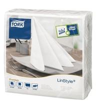 Tork Diner servetten wit | 600 stuks | 1 laags & 1/4 gevouwen | 40x40cm