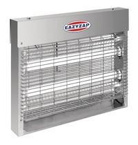 Eazyzap Slimline RVS insectenverdelger | 230V | 2x 6W UV lampen | 30m² | 284x106x313(h)mm