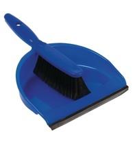 Jantex Zachte handveger en blik blauw | Aan elkaar vast te klikken | 260x340x250(h)mm