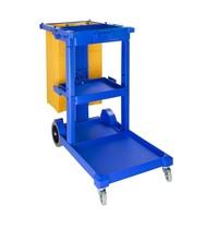 Jantex Huishoudwagen blauw | 500x980x1130(h)mm