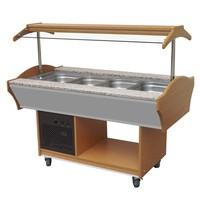 Gekoeld Buffet GN 4x 1/1 | Statich | 230V | 1550x900x850/1350(h)mm