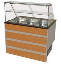 Combisteel Gekoeld Buffet GN 3x 1/1 | Statisch | 230V | 1 rooster per deur | 1070x800x850/1350h)mm