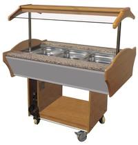 CombiSteel Warm Buffet GN 3x 1/1 | 230V | Met led verlichting | 1200x900x850/1350(h)mm