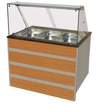CombiSteel Warm Buffet GN 3x 1/1 | 230V | 2,02kW | Met led verlichting | 1070x800x850/1350(h)mm
