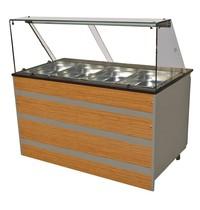 Combisteel Warm Buffet 4x 1/1 GN | 230V | 3,02kW | 1400x800x850/1350(h)mm