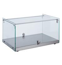 Combisteel Vitrine Neutraal 35L   Recht glas   554x361x305(h)mm
