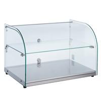 CombiSteel Vitrine Neutraal 45L   Gebogen glas   554x376x370(h)mm
