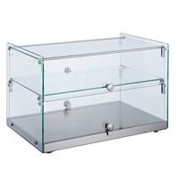 Combisteel Vitrine Neutraal 50L   Recht glas   554x361x370(h)mm