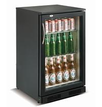 CombiSteel Barkoeler Zwart 98L  | 1 glas deur | 230V | Geforceerd | 500x500x900(h)mm