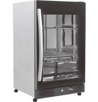 Combisteel Barkoeler Zwart 98L  1 volledige glas deur   230V   Geforceerd   500x500x840(h)mm