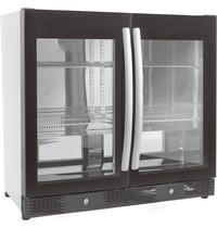 CombiSteel Barkoeler Zwart 198L | 2 volledige glas deuren | 230V | Geforceerd | 900x500x840(h)mm