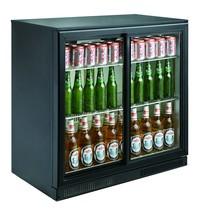 CombiSteel Barkoeler Zwart 198L | 2 schuifdeuren | 230V | Geforceerd | 900x500x900(h)mm