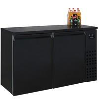Combisteel Barkoeler Zwart | 320L | 2 dichte deuren | 230V | Geforceerd | 1380x550x950(h)mm