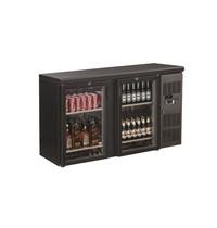 CombiSteel Barkoeler Zwart | 350L | 2 glas deuren | 230V | Geforceerd | 1462x535x860(h)mm