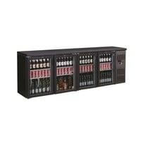 CombiSteel Barkoeler Zwart | 698L | 4 glasdeuren | 230V | Geforceerd | 2542x535x860(h)mm