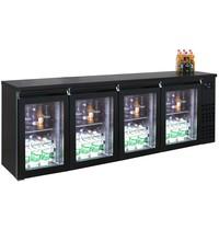 CombiSteel Barkoeler Zwart | 680L | 4 dichte deuren | 230V | Geforceerd | 2490x550x950(h)mm