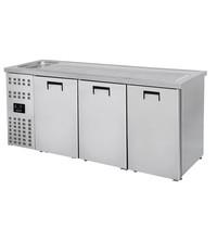 CombiSteel Bierkoeler RVS | 3 deuren rechts + 1 spoelbak links | 230V | 2100x700x1050(h)mm