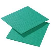 Gastronoble Sponsdoekje groen   10 stuks   Cellulose/Polyester   20,6x18,5cm