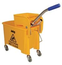 Jantex Rol emmer met wringer geel | 20L | Opvangbak en rooster | 350x280x480(h)mm