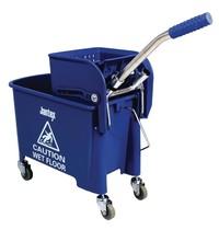 Jantex Rol emmer en wringer blauw   20L   opvangbak en rooster   350x280x480(h)mm