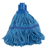 Jantex Antibacteriële mop blauw | 50% polyester & 50% katoen | 38(Ø)cm