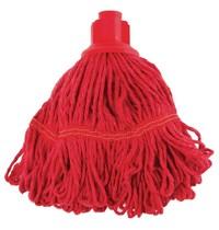 Jantex Antibacteriële mop rood | 50% Polyester & 50% katoen | 38(Ø)cm