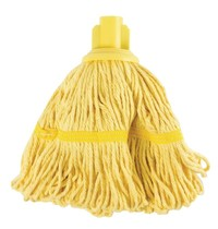 Jantex Antibacteriële mop geel | 50% Polyester & 50% katoen | 38(Ø)cm